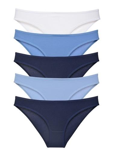 Sensu Kadın Basic Külot Karışık Renkler 5 Li Paket Kts1029 Renkli